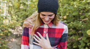 Girl in flannel shirt