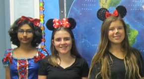 Students dressed as Disney characters