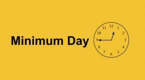 Minimum Day and clock at 12:45