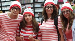 Students in striped clothing