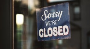 """Sign """"Sorry we're closed"""""""
