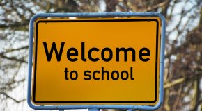 Welcome to school sign