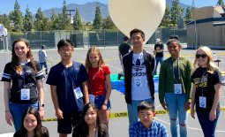 Venado students and teachers with high altitude balloon