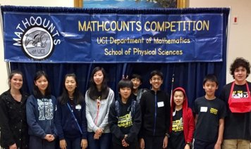 Ms. Rojas with MATHCOUNTS students