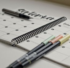 Planner with pens